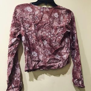Cropped Top Paisley Floral Print Forever 21 Small